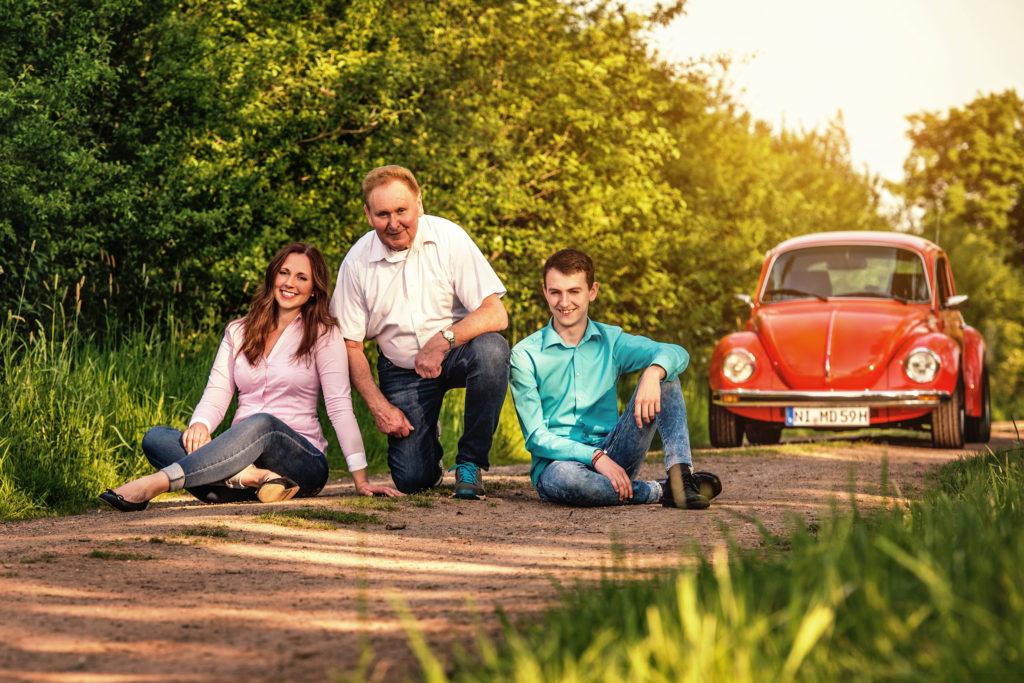 VW Käfer Shooting mit Familie
