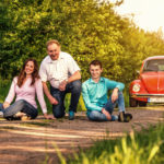 VW Käfer Shooting mit Familie